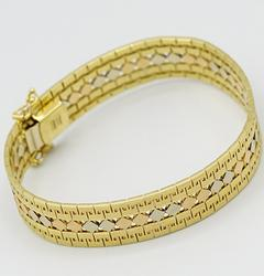 Fancy 18kt Solid Gold Bracelet