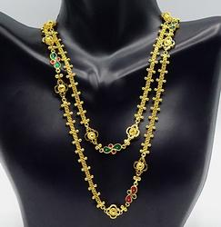 Gorgeous 22kt Solid Yellow Gold Station Necklace