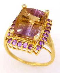Pretty Ametrine Ring in Gold, Size 8.75