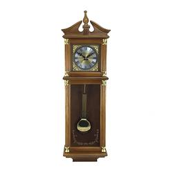 Antique Chiming Wall Clock with Roman Numerals