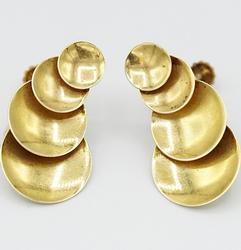 14kt Yellow Gold Screw-Back Drop Earrings