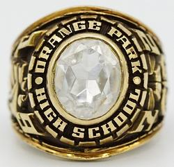 10kt Yellow Gold Orange Park High School Class Ring