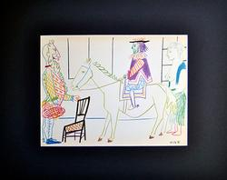 WONDERFUL PICASSO LITHOGRAPH IN COLORS FROM 1954