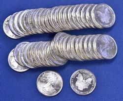 45 x 1/10th ounce Fine Silver Rounds