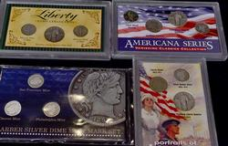 US Coin Display lot w Some Silver