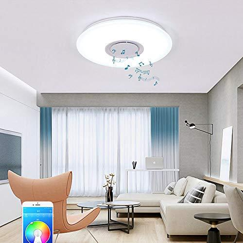 24W LED Ceiling Light Fixture with Bluetooth Speaker