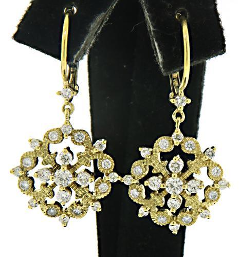 Amazing Diamond Gate Dangle Earrings