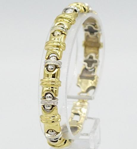 14kt Solid Yellow & White Gold Bracelet- 20 Grams of gold!