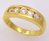 Fantastic Diamond Band in 18K Gold, Size 9.5