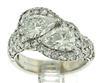 2 Natural Pear Brilliant White Diamond Ring