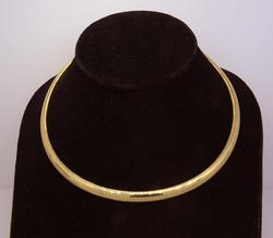 16 Inch Gold Omega Necklace