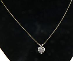 Modern Diamond Pave Pendant Necklace