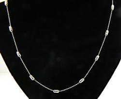 Vintage Sterling Silver Bead Chain Necklace
