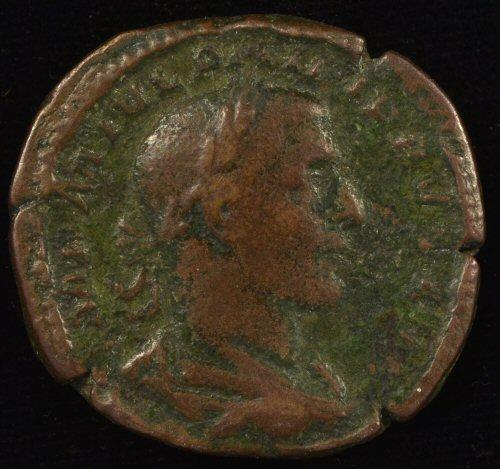 Large Scarce Roman Bronze coin of Philip I, 244-249 AD