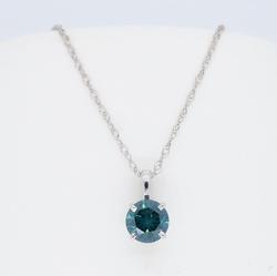 Colored Solitaire Diamond Necklace