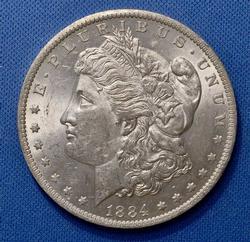 Frosty UNC 1884-O Morgan Silver Dollar