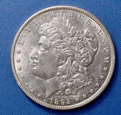 Lustrous Choice AU 1893-O Morgan Dollar