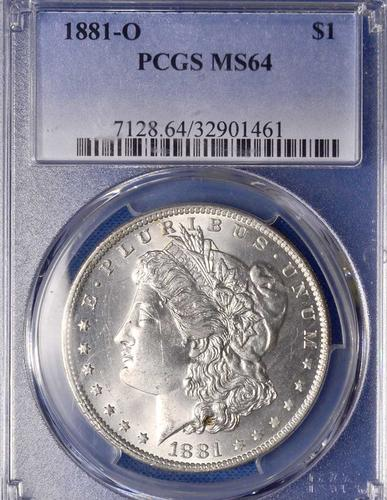 1881-O MS64 Morgan Dollar, PCGS