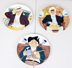 Davenport set of three 3D Collectible Plates
