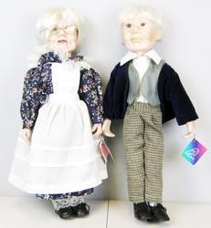 Porcelain Collectible Grandma and Grandpa Dolls