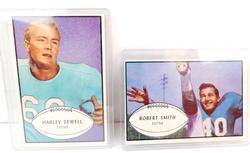 2 Bowman 1953 Detroit Lions Football Cards