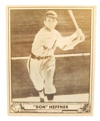 1940 Don Heffner, St. Louis Browns Baseball Card