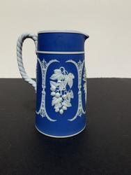 Vintage Blue Wedgwood Ceramic Pitcher