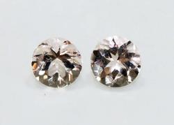 Matched Pair of Natural Morganite