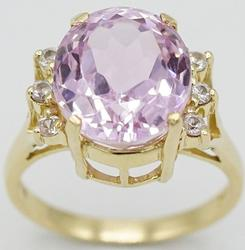 Gorgeous 14kt Gold Amethyst & Diamond Cocktail Ring