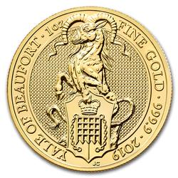 2019 1oz British Gold Queens Beast The Yale of Beaufort