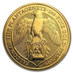 2019 1oz British Gold Queens Beast Falcon