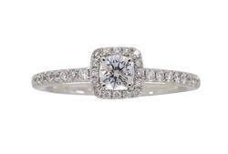 Halo Style .50 CTW Diamond Engagement Ring