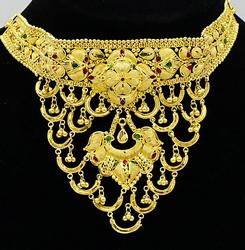 Lavish 24kt Solid Yellow Gold Necklace