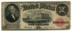 Collectible 1917 Series Large Size $2 Legal Tender note
