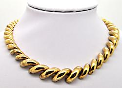 14 YELLOW GOLD GRADUATING SAN MARCOS NECKLACE - ITALY.