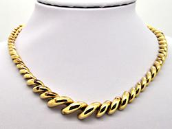 14 KT YELLOW GOLD GRADUATING SAN MARCO NECKLACE.