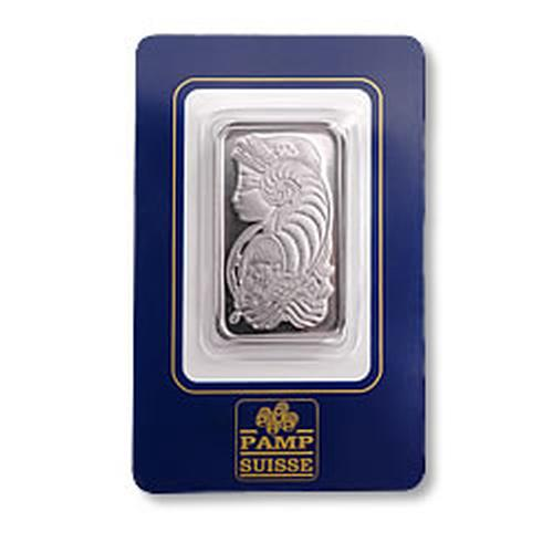 Pamp Suisse One Ounce Platinum Bar