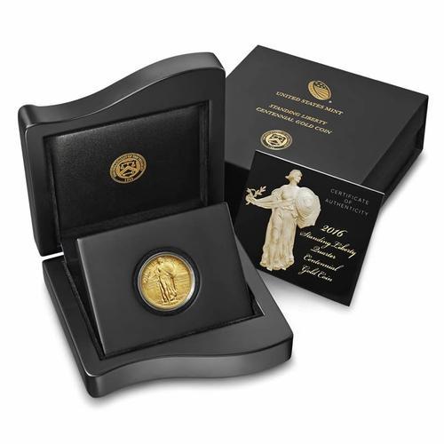 2016-W 1/4oz Gold Standing Liberty Quarter Original Box