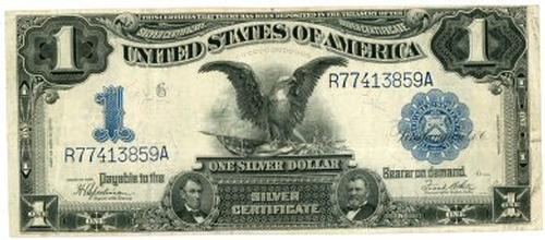Nicer 1899 Series Large Size $1 Black Eagle Silver Cert