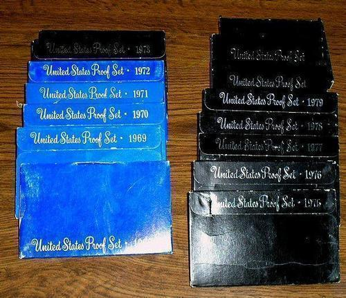 15 Different US Proof Sets: 1968-1982