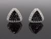 14K White and Black Diamond Earrings