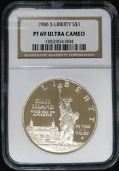 Certified Commemorative 1986 P Liberty NGC PF69