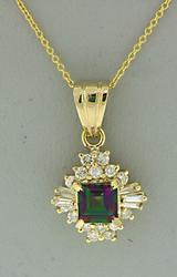 Gorgeous Mystic Topaz and Diamond Necklace
