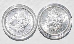 1886 Slider And 1904 O Frosty White BU Dollars