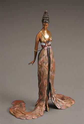 Erte Bronze 'Feather Gown'