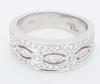 14K White Gold Band Style Diamond Ring