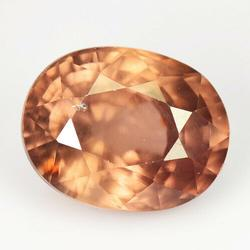 Very large 4.53ct natural peach Zircon