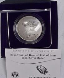 2014 Proof Bball HOF Silver $ Commem