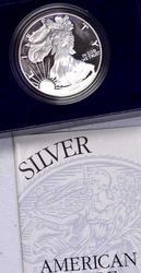 2001 Silver Eagle Proof, OGP