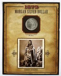 1879 O Uncirculated Morgan Dollar With 29 Cent Chief Joseph Stamp
